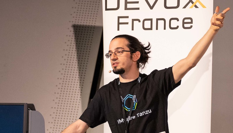 Picture of the author live coding